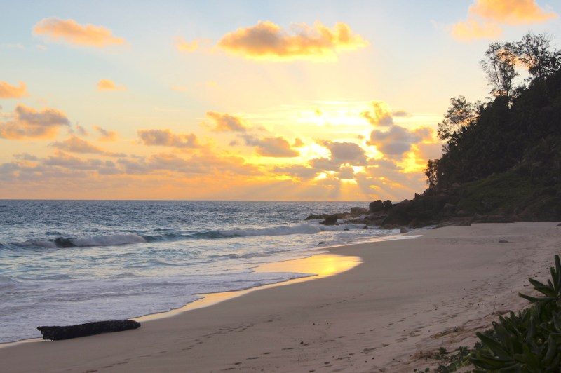 Sunset Tour of Mahé, Seychelles. Petite Police Beach has spectacular sunsets #Sunsets #Mahe #Seychelles #PetitePoliceBeach #MaheBeach #SeychellesBeach