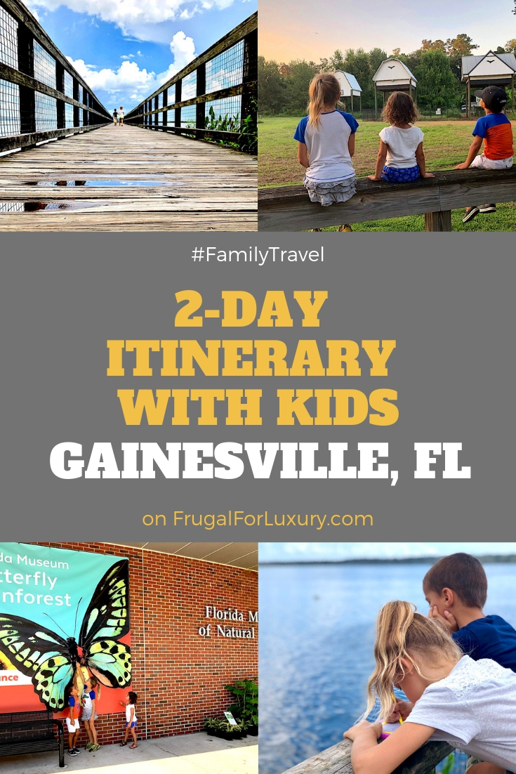 2-day itinerary for families in Gainesville, FL #gainesville #florida #tourofflorida #alachuacounty #gainesvilleFL #universityofflorida #UF #gogators #Gainesvillewithkids #gainesvilleitinerary