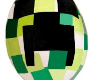 Having a Minecraft Easter Hunt? These DIY Creeper eggs work well. Image/directions courtesy of Katie Stiles on Instructables.com