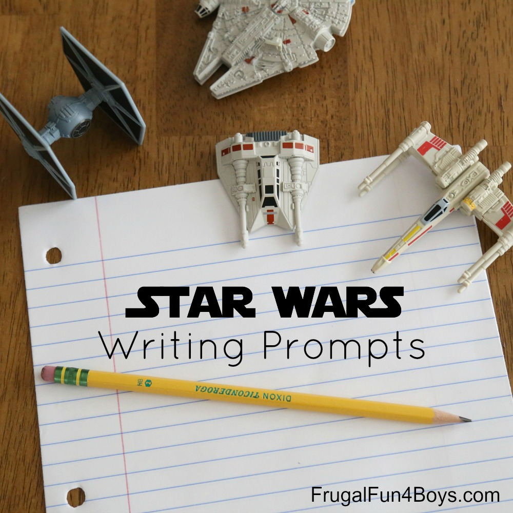 medium resolution of Printable Star Wars Writing Prompts - Frugal Fun For Boys and Girls