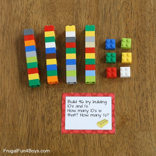 small resolution of LEGO Math Printable Challenge Cards - Frugal Fun For Boys and Girls
