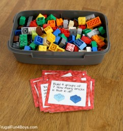 LEGO Math Printable Challenge Cards - Frugal Fun For Boys and Girls [ 1000 x 1000 Pixel ]