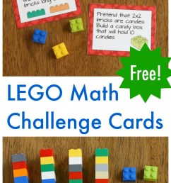 LEGO Math Printable Challenge Cards - Frugal Fun For Boys and Girls [ 2000 x 800 Pixel ]