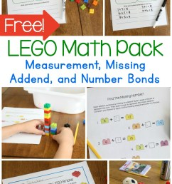 First Grade Math with LEGO Bricks Printable Pack - Frugal Fun For Boys and  Girls [ 2000 x 1200 Pixel ]