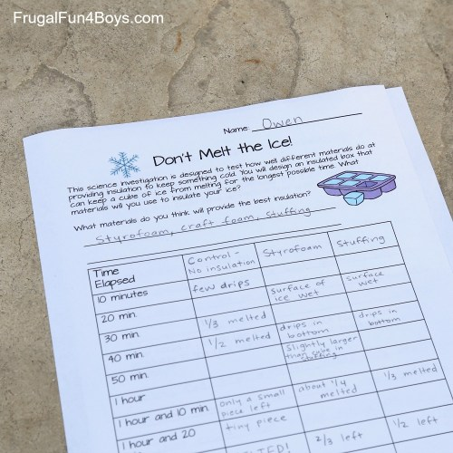 small resolution of Don't Melt the Ice! Science Experiment for Kids - Frugal Fun For Boys and  Girls