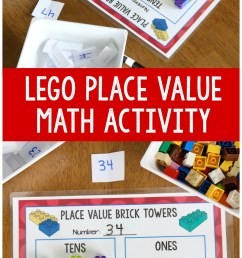 Hands-On Place Value Math Activity with LEGO Bricks - Frugal Fun For Boys  and Girls [ 2000 x 1000 Pixel ]