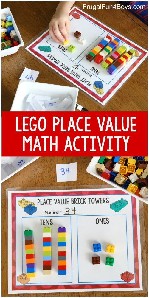 small resolution of Hands-On Place Value Math Activity with LEGO Bricks - Frugal Fun For Boys  and Girls