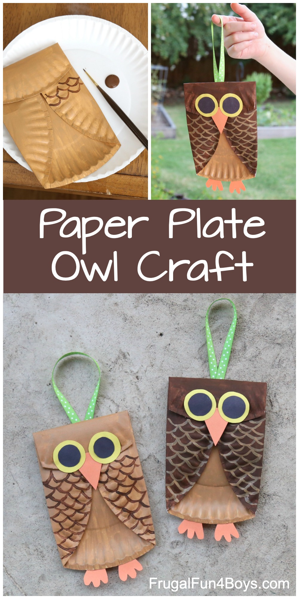 Paper Plate Owl Craft For Kids Frugal Fun For Boys And Girls