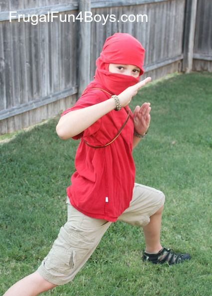 How to Turn a TShirt into a Ninja Mask With no cutting or sewing