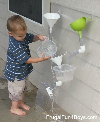 How To Build A Changeable Water Wall Frugal Fun For Boys