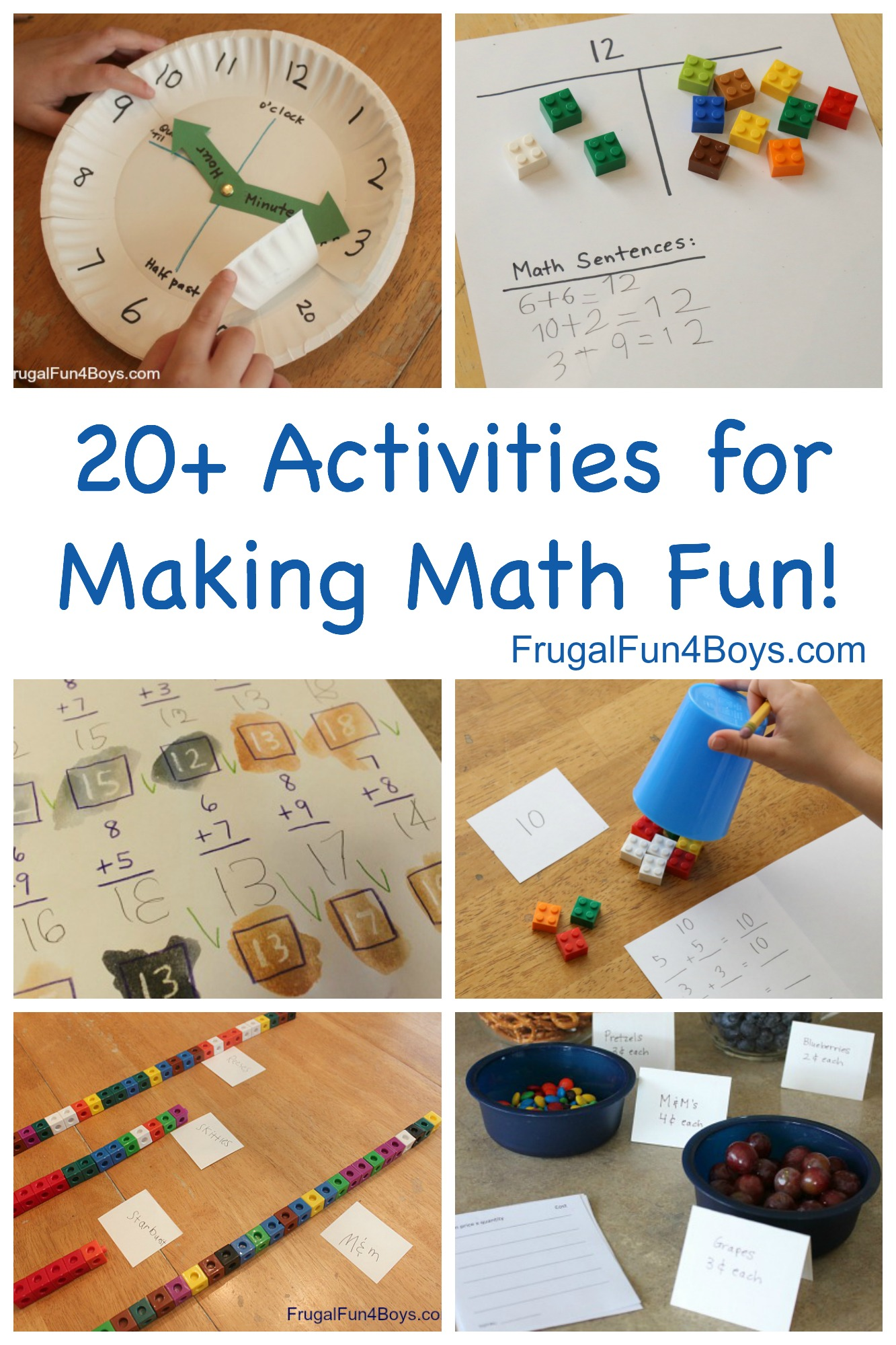 Hands On Math Activities For Making Elementary Math Fun