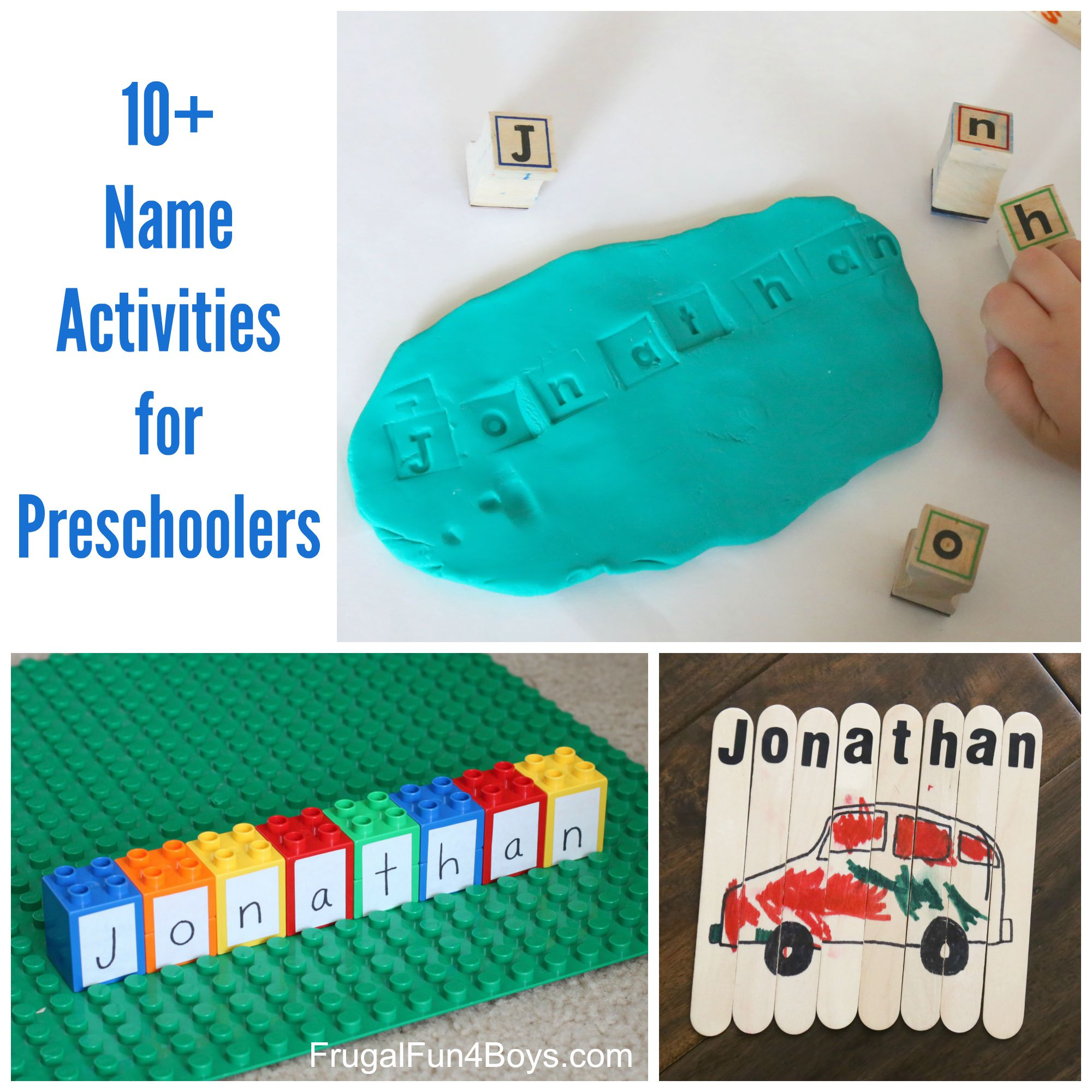 Simple Name Activities For Preschoolers