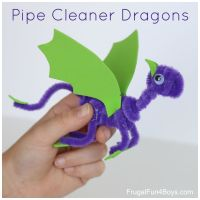 Pipe Cleaner Dragons Craft for Kids - Frugal Fun For Boys ...