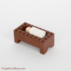 How To Make A Simple Lego Sofa Microfiber Set Nativity Instructions Frugal Fun For Boys And Girls Build