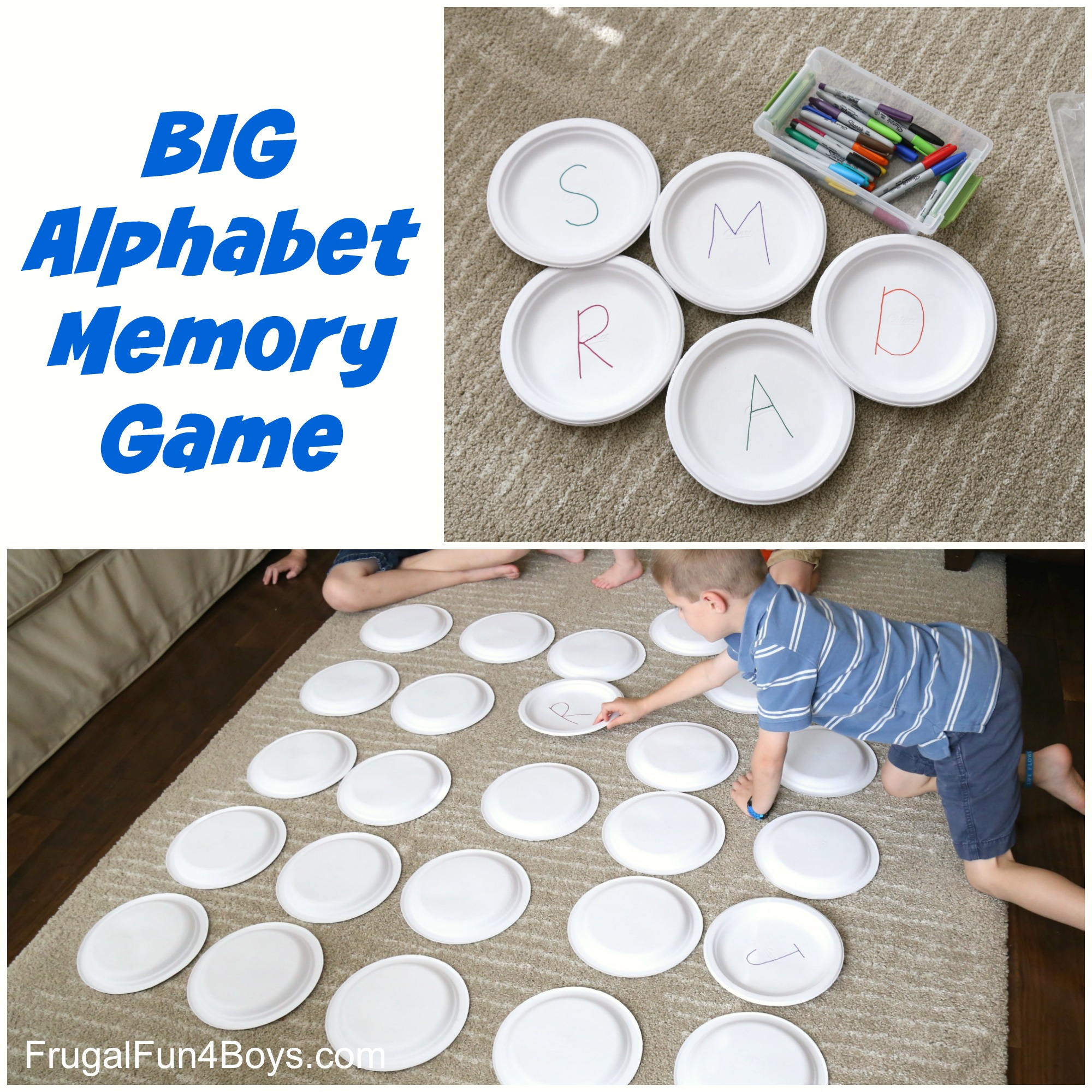 Big Alphabet Memory Game Learning Game For Preschoolers