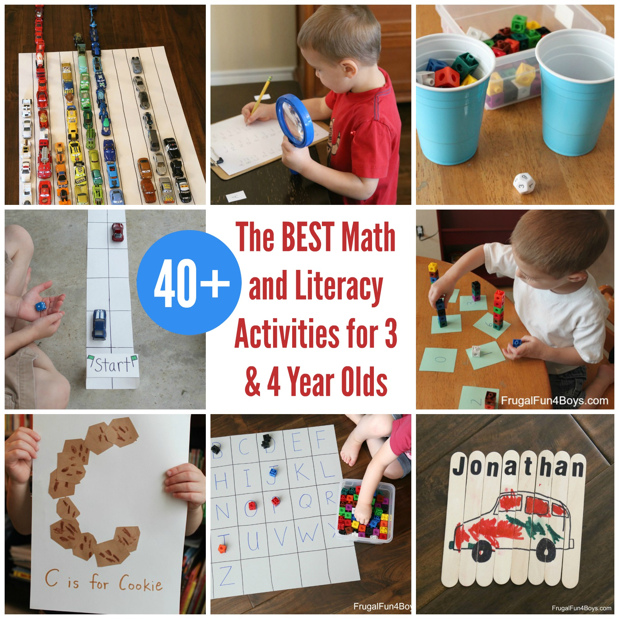 The Best Math And Literacy Activities For Preschoolers 3 Amp 4 Year Olds