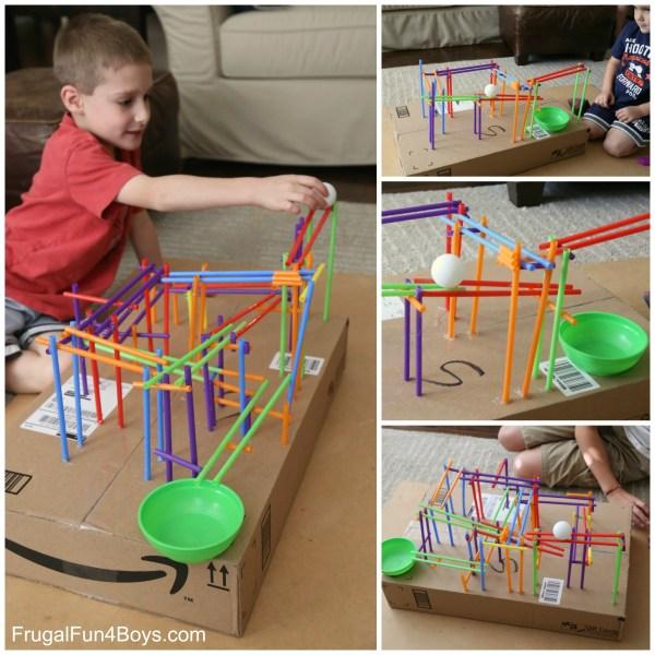 Kids Build a Stem Roller Coaster Project