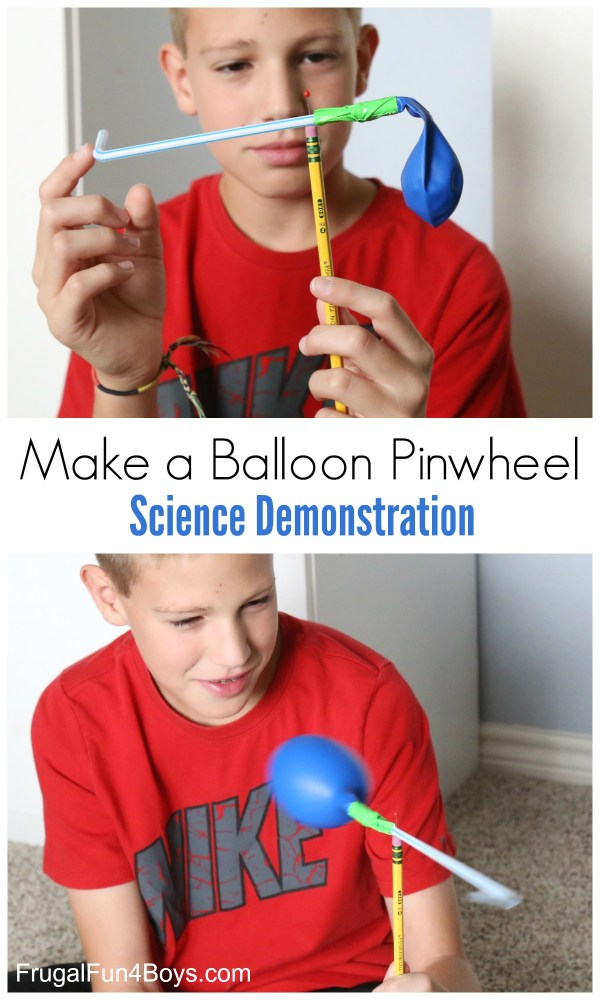 Make Balloon Pinwheel Science Demonstration