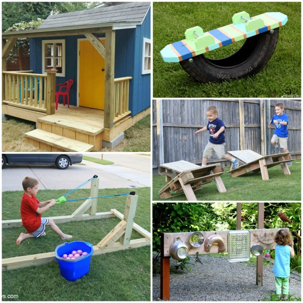 Outdoor Play Space DIY Projects for Your Back Yard