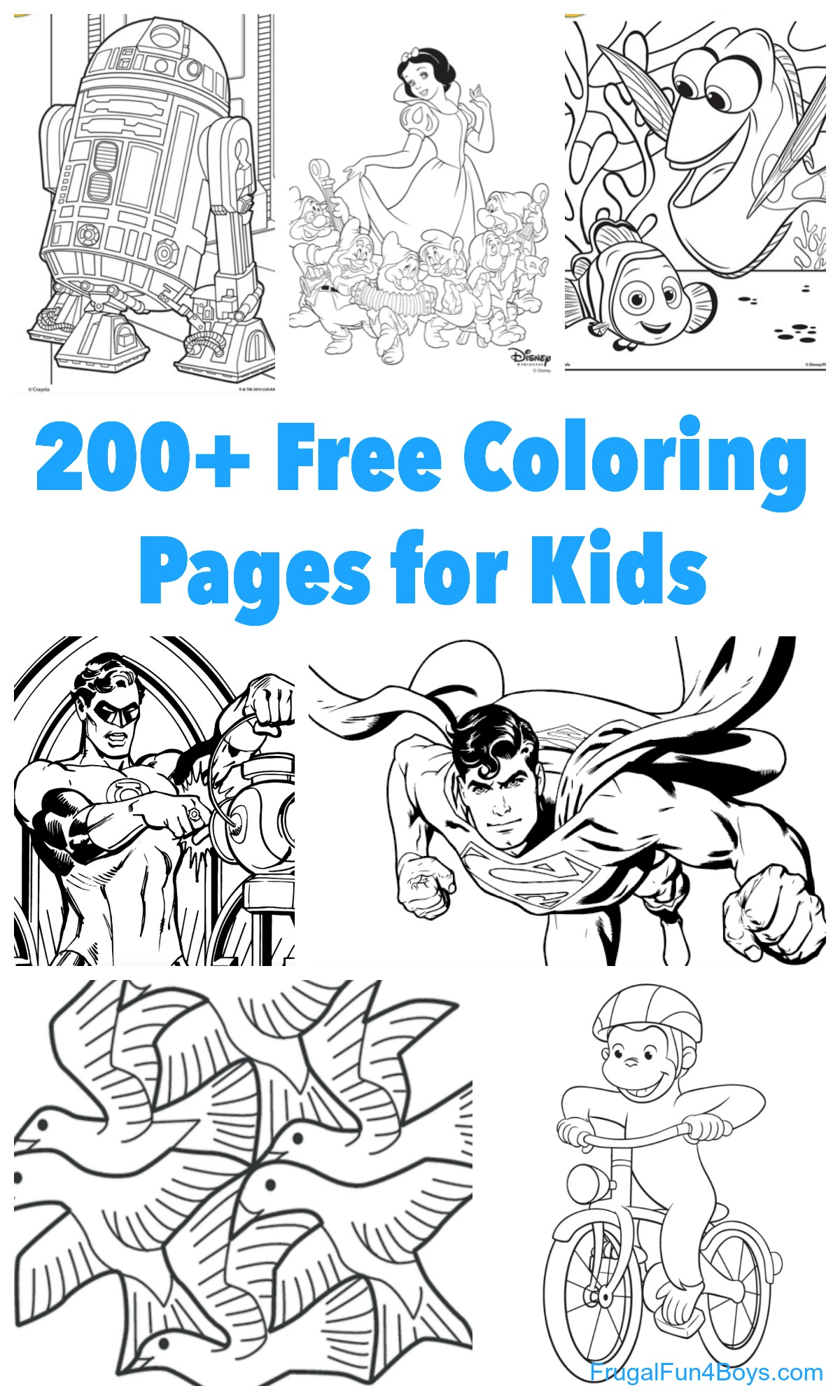 200 Printable Coloring Pages For Kids