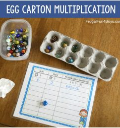 Hands-On Multiplication Activities - Frugal Fun For Boys and Girls [ 1280 x 1280 Pixel ]