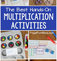 Hands-On Multiplication Activities - Frugal Fun For Boys and Girls [ 2000 x 1000 Pixel ]
