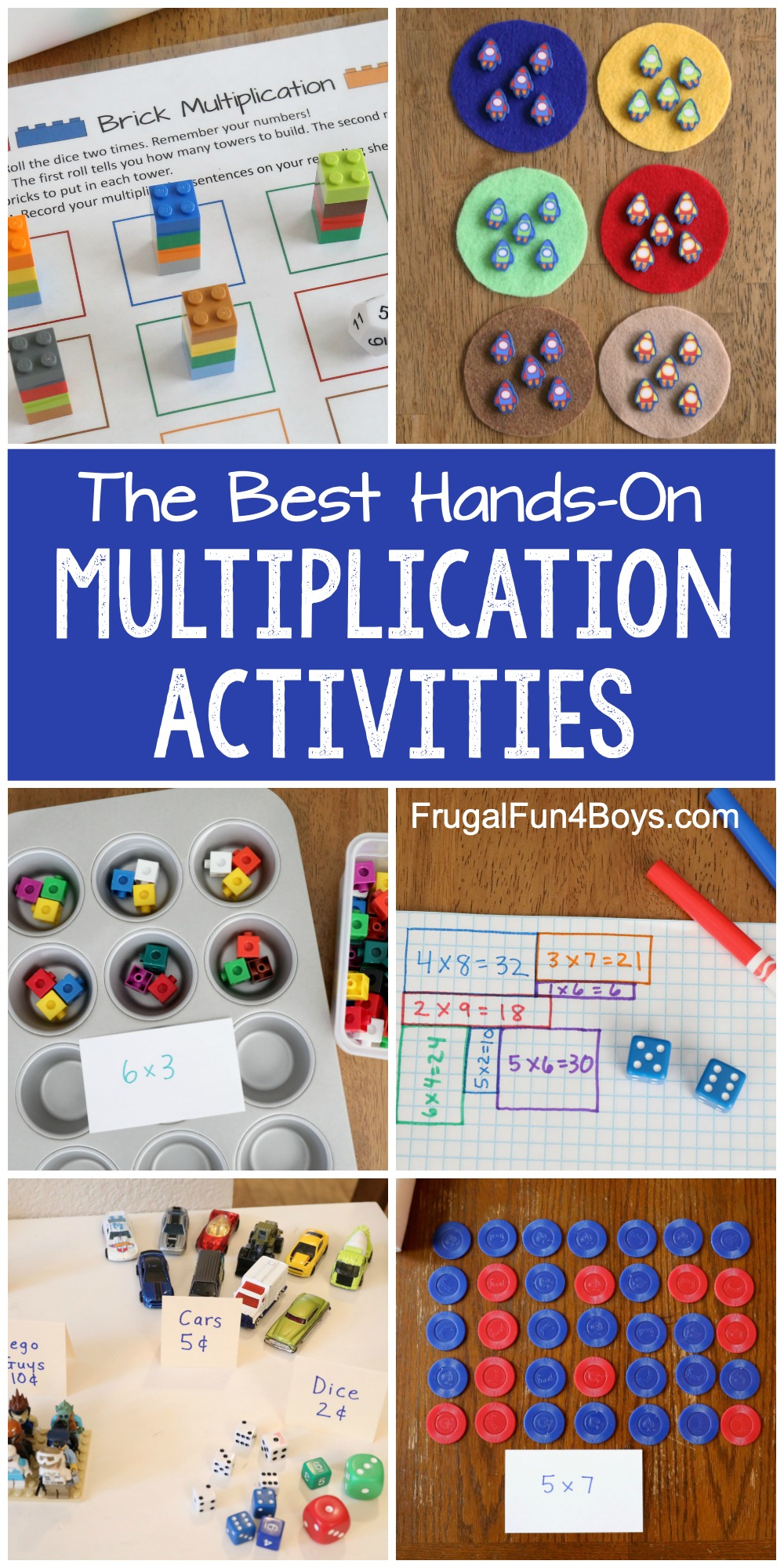 medium resolution of Hands-On Multiplication Activities - Frugal Fun For Boys and Girls