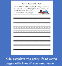 Printable Superhero Writing Starters - Frugal Fun For Boys and Girls [ 1190 x 922 Pixel ]