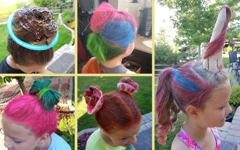 Easy Crazy Hair Day Ideas For Girls