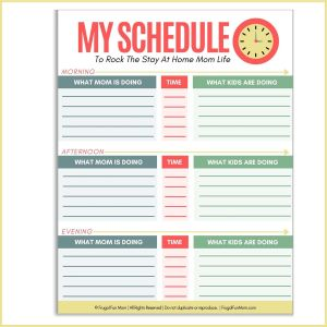 My Schedule | Frugal Fun Mom