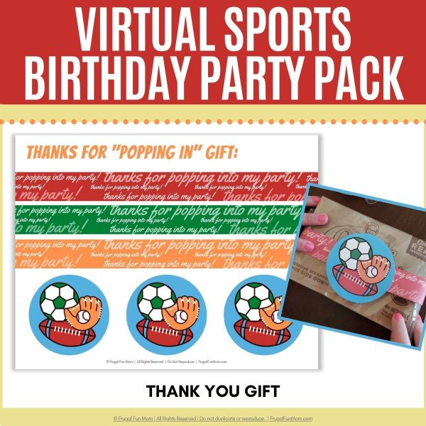 Virtual Sports Birthday Party Pack | Frugal Fun Mom