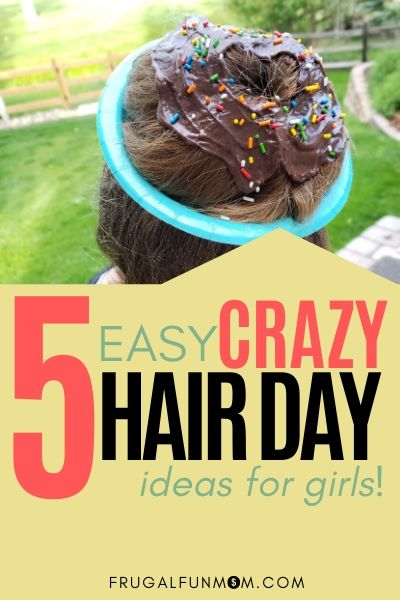5 Easy Crazy Hair Day Ideas For Girls   Frugal Fun Mom