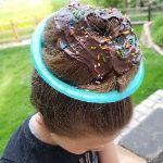 Donut Crazy Hair Day Idea