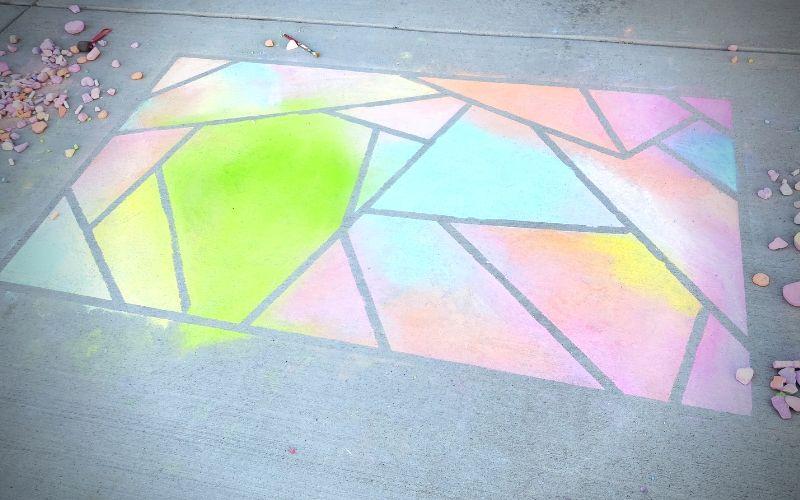 How To Make A Sidewalk Chalk Mosaic