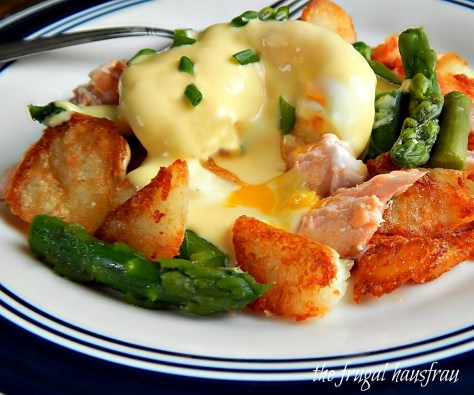 Salmon & Asparagus Hash Hollandaise Tyler Florence Hash browns