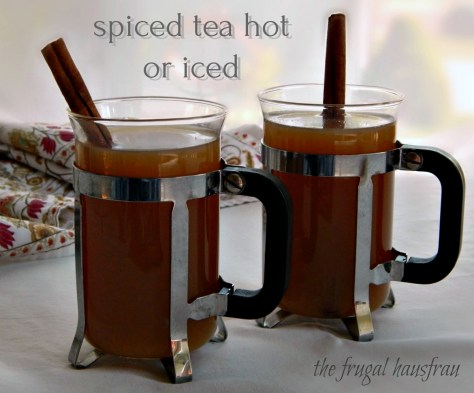 Spiced Tea, hot or cold. Serve as is or make it into a punch.s or make as a Punch