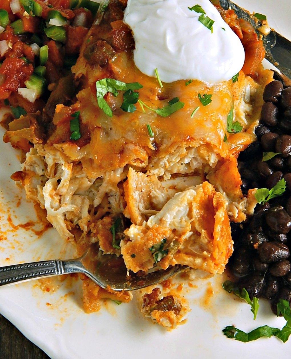 Chicken or Turkey Enchiladas with Ranchero Sauce