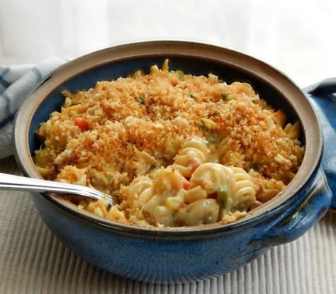Cheesy Chicken (or Turkey) Noodle Casserole