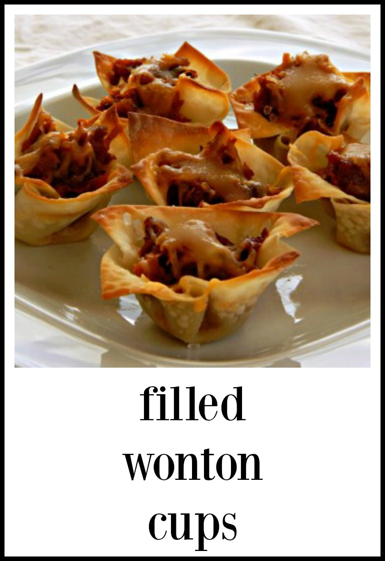 Filled Wonton Cups are versatile (can be filled with all kinds of goodness) cheap, easy and fast. They are the perfect bite for a party! #WontonCups