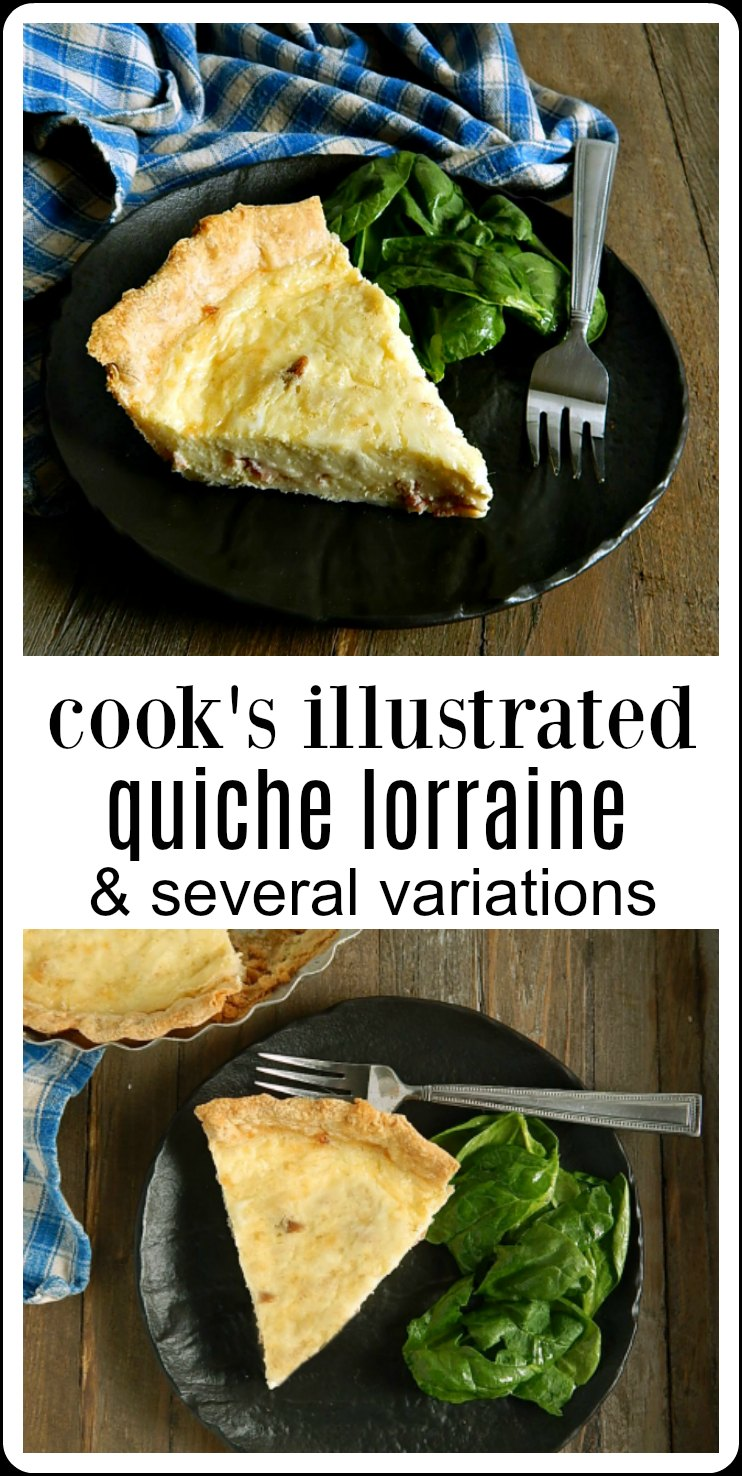 The original Quiche Lorraine Cook's Illustrated Version. There's still no better and this is the easy but oh so delish Quiche that will ruin all others. Use this same recipe for all kinds of variations. It's a great leftovers strategy. #Quiche #CooksIllustratedQuiche #CooksIllustratedQuicheLorraine