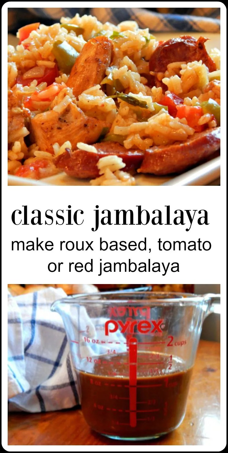 It\'s always a party when you make this Jambalaya Recipe - everything you need to know to make the best roux based Cajun Jambalaya with perfect rice! #ClassicJambalaya #CajunJambalaya #Roux