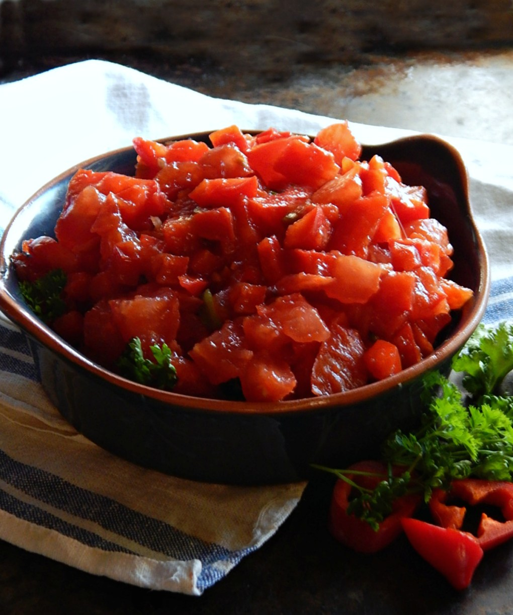 Bell Pepper and Tomato Salad Ezme
