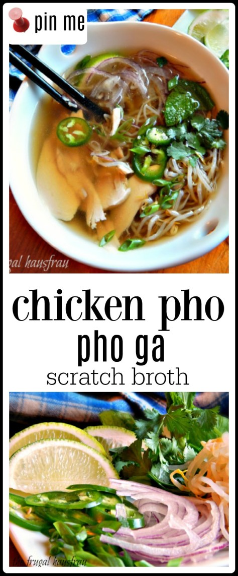 Chicken Pho or Pho Ga - this has a scratch made broth and is excellent!! Easy, too. But I also have a shortcut Pho Ga on my blog.