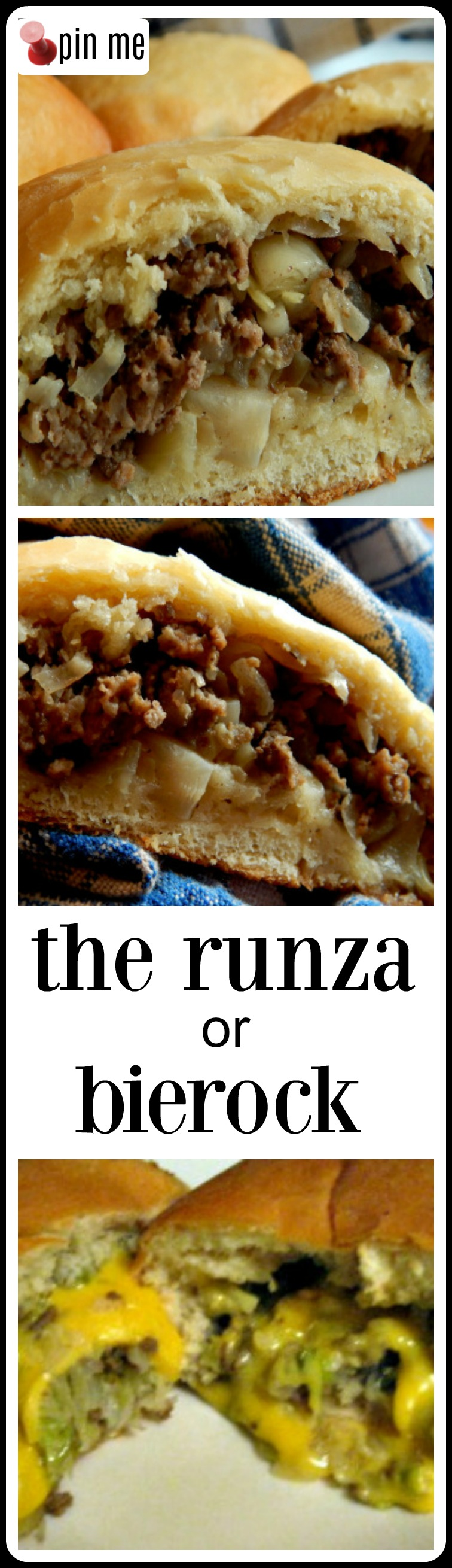 Nebraska Runzas (Bierocks) are down-home food at it's best! Passed on by generations of Nebraska immigrants from the lower Volga. Make with store-bought or a fantastic, easy, homemade dough. #Runza #Bierock
