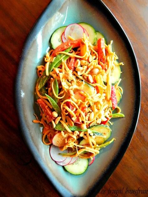 Cold Asian Peanut Noodle Salad