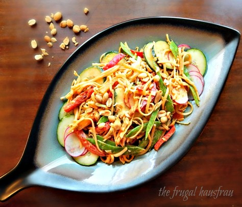 Cold Asian Peanut Noodle Salad