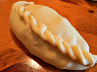 Finished Pasty - may be cooked now or later.
