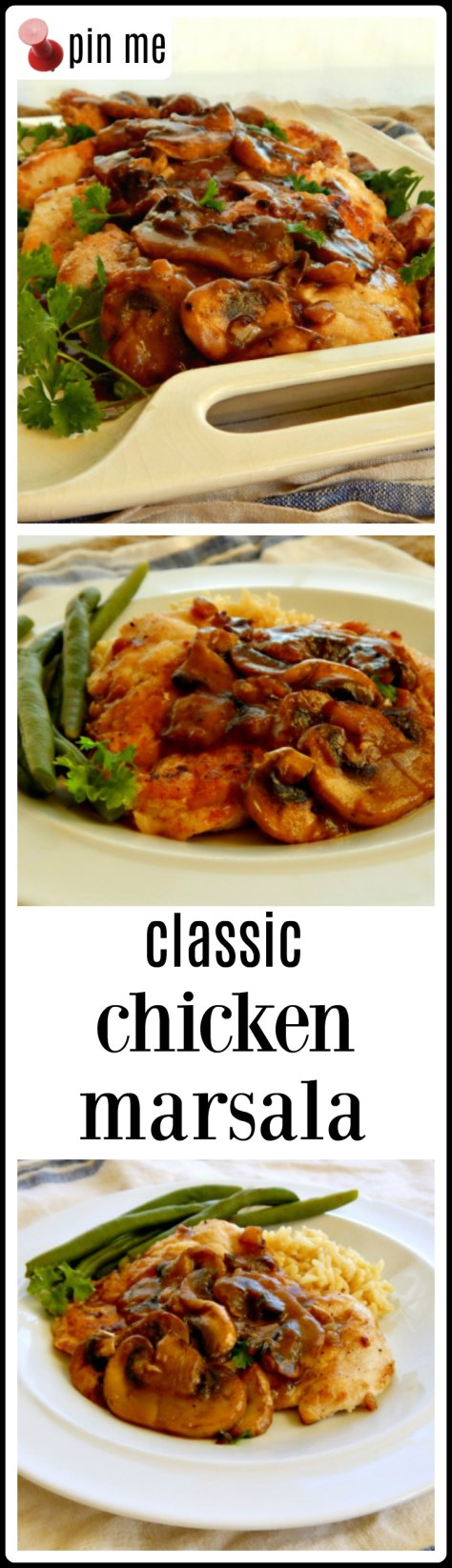Classic Chicken Marsala - so easy so good and comes together in minutes!
