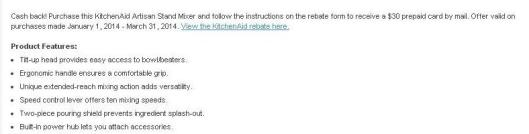 Look at the fine print for rebates and attachments