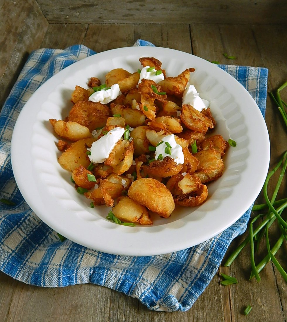 Baled Potato Hash Browns from Leftover Potatoes - so perfectly golden & crispy